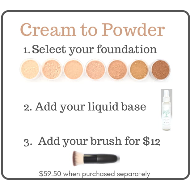 Cream to Powder Foundation Set